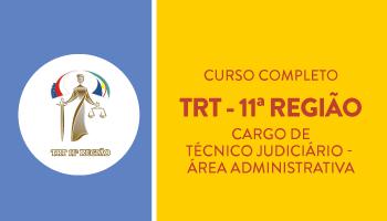 TRT/AM E RR - TÉCNICO JUDICIÁRIO - ÁREA ADMINISTRATIVA - CURSO INTENSIVO DE TEORIA E RESOLUÇÃO DE QUESTÕES